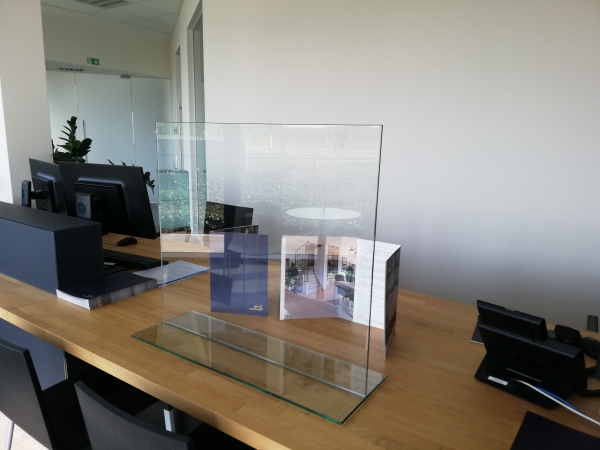 Glazen veiligheidsscherm - basis